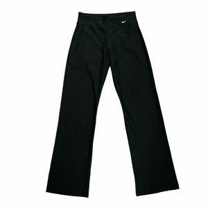 Nike Dri Fit Pants Womens Size XS Black Yoga Stretch Pullon High Rise Bootcut